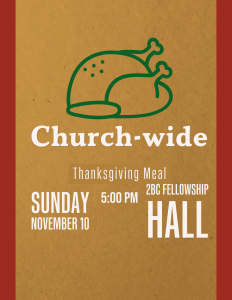 Church-Wide Thanksgiving Meal